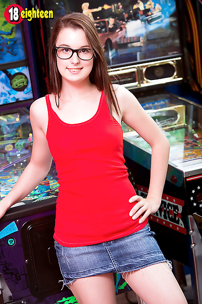 Nerdy young Aeris in glasses..