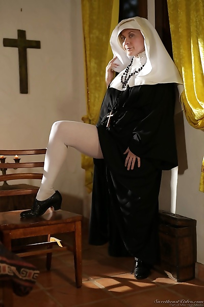 Lusty mature nun with a big..