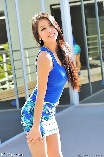 Megan is gorgeous in blue -..