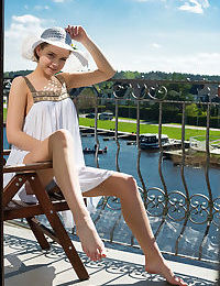Faina bona playfully poses in the balcony as she bares her nubile body - part 4366