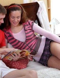 Teen girl Marya D is in pain as she loses her virginity to her boyfriend
